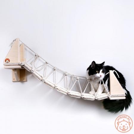 """Очень прочный и комфортный мостик-лесенка с перилами на стену """"Путь ниндзя-2"""""""
