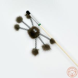 Игрушка для кошки «Норковый паук на веревке»
