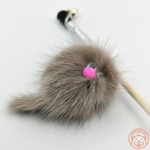Игрушка для кошки «Зверек из норки на веревке»