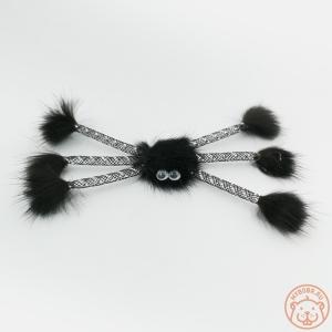 Игрушка для кошки «Норковый паук с глазками»