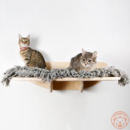"""Большая и надежная настенная лежанка для кошек """"Смотровая площадка"""""""