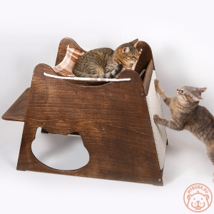 """Игровой комплекс для кошек """"Троянский конь"""""""