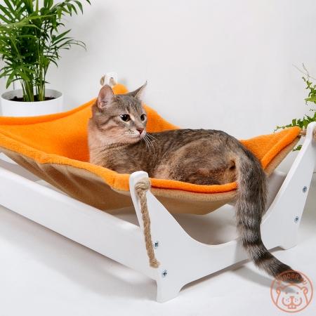 """Удобный и красивый напольный гамак для кошки """"Ленивый котик"""""""